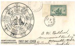 (170) Cover Canada Bird - 1949 - Newfouldland - 1937-1952 Regno Di George VI