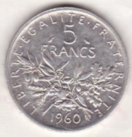 5 Francs Semeuse 1960  En Argent - J. 5 Francs