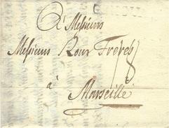 1784- Lettera Da MILANO  ,transito GENOVA  Per Marseille  -tassa 18 Sols - 1. ...-1850 Prephilately