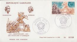 Enveloppe  FDC  1er   Jour    GABON    Bicentenaire  Des   U.S.A    1976 - Indépendance USA
