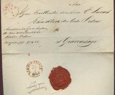 1855 KAMPEN  Bfh. An E.Lucas In S'Gravenhage - Niederlande