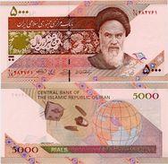 IRAN       5000 Rials       Comm.       P-150       ND (2009)       UNC - Irán