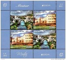 Bosnia & Herzegovina - Mostar - 2012 - Europa CEPT - Visit Bosnia - Mint Souvenir Sheet - Bosnia Herzegovina