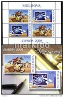 Moldova - 2008 - Europa ´CEPT - Letters - Mint Stamp Booklet - Moldavia