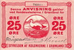 * GREENLAND 25 ORE 1913 P-11b UNC [GL011b] - Groenland