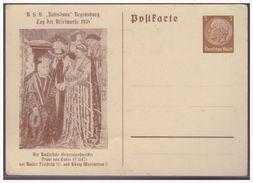 Dt- Reich (003947) Privatganzsache Fech PP122 C70, Tag Der Briefmarke 1938, Regendburg, Ungebraucht - Germania