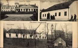 Cp Csebény Ungarn, Holitscher Kastely, Gasthaus Wagner Ernö, Blick Zur Kirche - Hongrie