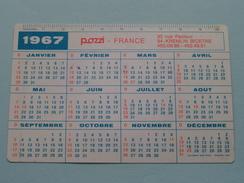 POZZI France Appareils Sanitaires - Carrelage KREMLIN Bicetre : Anno 1967 ( Zie Foto´s Voor Detail ) ! - Calendriers