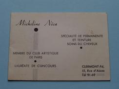 Micheline Néca CLERMONT (Fd) Membre De Club Artistique De Paris : Anno 1954 ( Zie Foto´s Voor Detail ) ! - Calendars