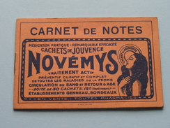 Carnet De Notes Novémys / Képhiline Pharmacies Genneau Bordeaux : Anno 1934 ( Zie Foto´s Voor Detail ) ! - Calendari