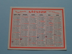 Imprimerie A. WATON St. Etienne Typographie Offset Cartonnages Lithographie ... : Anno 1959 ( Zie Foto´s Voor Detail ) ! - Calendars