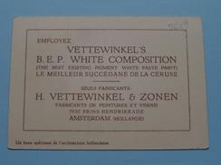VETTEWINKEL'S B.E.P. WHITE COMPOSITION - H. VETTEWINKEL & Zonen AMSTERDAM Hollande ( Zie Foto´s Voor Detail ) ! - Cartes De Visite