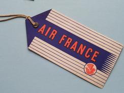 AIR FRANCE Label + Billet 1951 ( Voir Photo Pour Detail ) ! - Baggage Labels & Tags