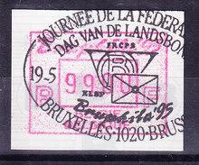 BELGIQUE COB ATM 91 BRUPHILA 1995, 99 Fr OBL  . (7A96A) - Frankeervignetten