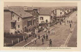 CPA:Société Anonyme Des Mines De Fer De SAINT-PIERREMONT à MANCIEULLES (Dpt.54): Rue Du Clos Saint-Martin   (D 1020) - Mijnen