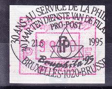 BELGIQUE COB ATM 91 BRUPHILA 1995, 99 Fr OBL  . (7A96C) - Frankeervignetten