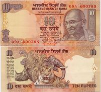 INDIA      10 Rupees      P-95       2007       UNC  [ Sign. Reddy - Letter S ] - India
