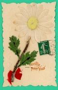 Carte Avec Apport De Fleur Papier  - Cueillie Pour Vous - - Flowers