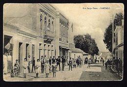 CARTAXO Rua Serpa Pinto. Animado Com Lojas. Postal Antigo De 1910s (SANTAREM) PORTUGAL - Santarem