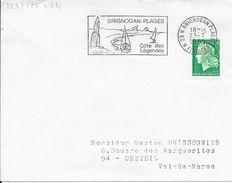 FINISTERE 29   - BRIGNOGAN PLAGES     - FLAMME N° 2233  - VOIR DESCRIPTION  - 1969  - BELLE FRAPPE - Oblitérations Mécaniques (flammes)