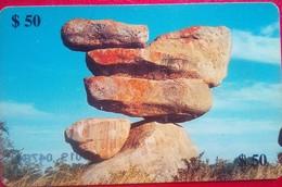 Zimbabwe Phonecard $50 Rocks - Zimbabwe