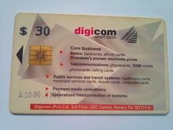 Zimbabwe Phonecard $30 Digicom - Zimbabwe