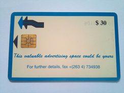 Zimbabwe Phonecard $30 Adspace - Zimbabwe
