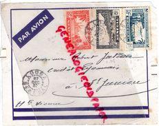 87- SAINT JUNIEN- SENEGAL- LOUGA 1937- PAR AVION- ROBERT JUTEAU CREDIT LYONNAIS - Senegal (1960-...)