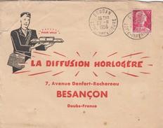 SOUDAN LOIRE INFERIEURE.  OBLITERATION RONDE SUR LETTRE PUBLICITE.  MARIANNE DE MULLER 15F  /  2 - 1961-....