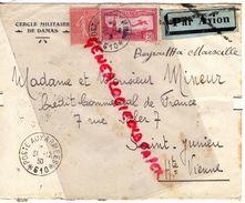 87-SAINT JUNIEN- SYRIE-CERCLE MILITAIRE DAMAS- PAR AVION BEYROUTH A MARSEILLE-M. MINEUR CREDIT COMMERCIAL DE FRANCE-1930 - Siria