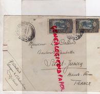 87-SAINT JUNIEN- BANQUE INDOCHINE DJIBOUTI 1931- L. CALLARD BD. GAMBETTA- 2 X  COTE FRANCAISE DES SOMALIS 25 - Djibouti (1977-...)
