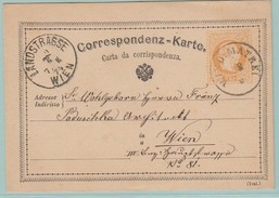 AUT3 Entier Postal Franz-Joseph 2k. P19b   Wind : Matrei  18.6.74   Pour Wien Landstrasse - Interi Postali