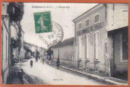Carte Postale 47. Fongrave école Communale De Filles  Grande Rue   Trés Beau Plan - France