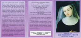 Terni - Santino Depliant SERVA DI DIO SUOR TERESA ELETTA RIVETTI CUORE, Clarisse Monastero SS. Annunziata - M98 - Religione & Esoterismo