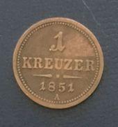 1 Kreuzer 1851 A, Austria, Copper - Austria