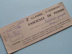 S.N.C.F. Région De LIMOGES : 2e Classe - FASCICULE De PERMIS N° C 5788638 - Anno 1976 ( Zie Foto Details ) !! - Titres De Transport