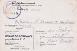 """KGkaart Van """"Homme De Confiance Stalag VIC"""" Naar Homme De Confiance In Rawa Ruska 1942 - WW II"""