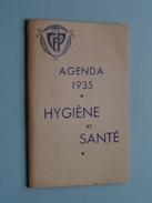 Agenda 1935 Hygiène Et Santé CFP - Anno 1935 ( Voir Photo Svp / Zie Foto Details ) !! - Calendriers