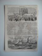 GRAVURE 1857. CONCOURS DU COMICE AGRICOLE DE SEINE-ET-OISE, A MAISONS-LAFFITTE. LE VANDERBILT, STEAMER. - Prints & Engravings