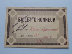 BILLET D'HONNEUR ( 5 Pcs.) Ecole Publique De LA CHAPELLE - TAILLEFERT Anno 1970' ( Voir Photo Svp / Zie Foto Details ) ! - Diplômes & Bulletins Scolaires