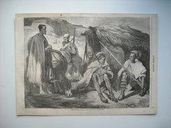 GRAVURE 1857. ALGERIE. TYPES DES TRIBUS KABYLES. BENI-RATEN. BENI-FRAOUSSEN. BENI-KHELILI. BENI-BOU-CHAÏB. BENI YAHIA... - Prints & Engravings