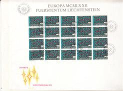 Europa Cept 1972 Liechtenstein 1v Sheetlet FDC ** Mnh (F6564) - 1972