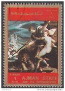 """2560  Ajman 1973  """" Trionfo Della Verità """" - Quadro Dipinto Da H. Von Aachen - Manierismo Paintings Tableaux - Nudes"""