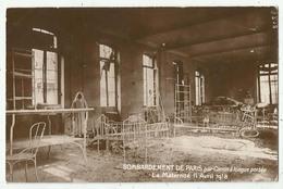 Militaria - Bombardement De Paris Par Canon à Longue Portée - La Maternité 11 Avril 1918 - War 1914-18