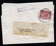 A4744) Finland Suomi Streifband 1918 Mit Zensur Nach Deutschland - Lettres & Documents