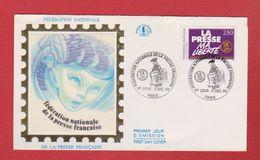 Enveloppe Premier Jour  / Fédération Nationale De La Presse Française  / Paris / 9-12-1994 - FDC