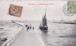 BELGIQUE. OSTENDE.  L'ENTRÉE DU PORT. ANNÉE 1906 - Oostende
