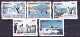Greenpeace 1997 Mongolia 5v From M/s  Penguins   ** Mnh (36506) Promotion - Poolshepen & Ijsbrekers