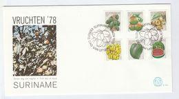 1978 SURINAME FDC FRUIT Stamps Fruit Cover Surinam - Surinam