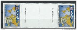 Aland 1992 N°56 Neuf Gutter Pair Association Des Cap Horniers - Aland